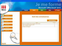 Je me forme a Excel 2010 screen 2