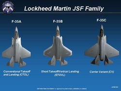 JSF F-35 variantes Pentagone