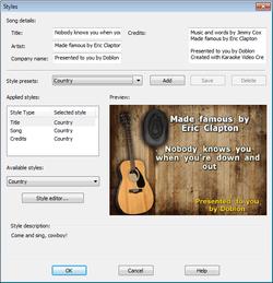 Karaoke Video Creator screen