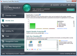 Kaspersky Small Office Security screen