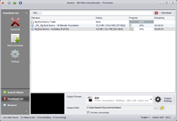Kastor All Video Downloader screen