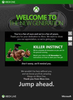 Killer Instinct - cadeau