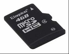 Kingston microsdhc 4 go