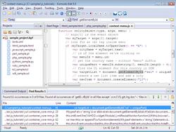 Komodo Edit screen