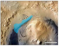 Lac sur Mars