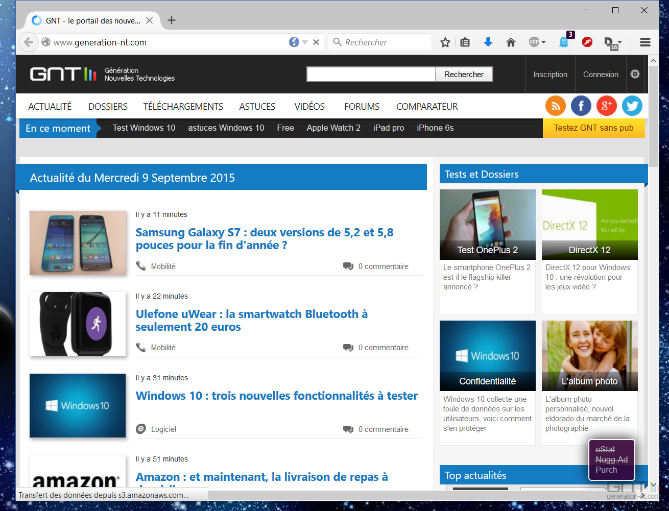Lancement page web windows 10 2 for Web and windows