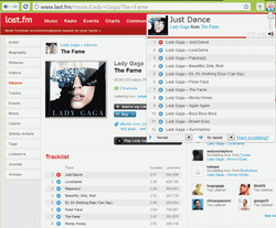 Last.fm Player screen1