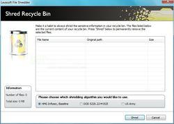Lavasoft File Shredder screen 1