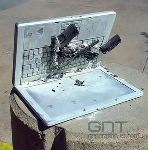 Lenovo pc portable incendie
