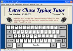 Letter Chase Typing Tutor