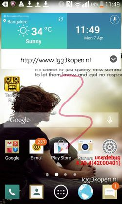 LG G3 interface