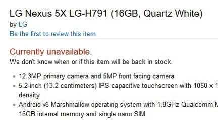 LG Nexus 5X Amazon
