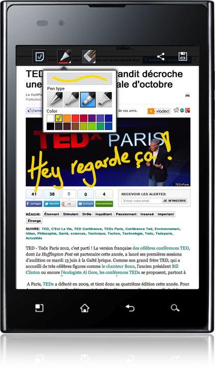 LG Optimus Vu french quick memo
