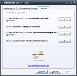 LightScribe System Software screen1