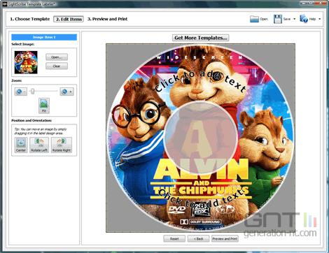 Image LightScribe Template Labeler screen1