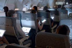 liseuses dans l'avion