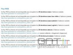 Liste des Flux RSS de GNT