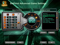 Logitech SetPoint screen 2