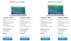 MacBook Air 2014 configurations