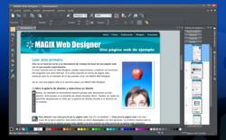 MAGIX Web Designer MX screen