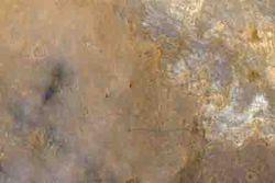 Mars curiosity vue depuis l'orbite