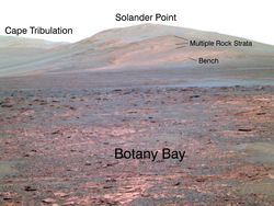 Mars nasa opportunity point Solander