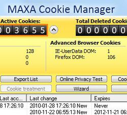 MAXA Cookie Manager screen1