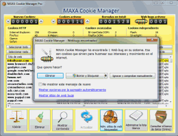 MAXA Cookie Manager screen2