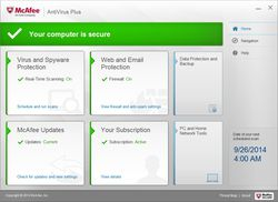 McAfee AntiVirus Plus screen2