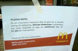 McDonalds affiche raciste