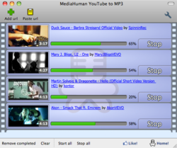 MediaHuman YouTube to MP3 Converter screen1