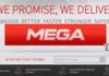 Mega a sa première page Web en ligne