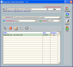 Megavideo Video Downloader screen1