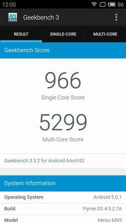 Meizu MX5 Geekbench