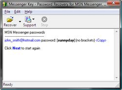 Messenger Key screen 1
