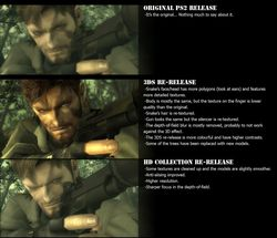 Metal Gear Solid 3 - comparatif
