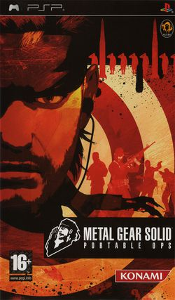 Metal Gear Solid : Portable Ops   Pochette PAL