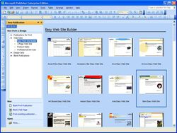 Microsoft Office Publisher screen