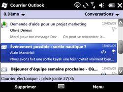 Microsoft Outlook 2010 screen 1