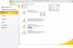 Microsoft Outlook 2010 screen 2
