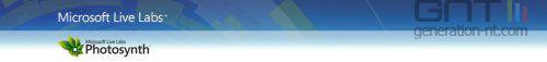 Microsoft photosynth banner
