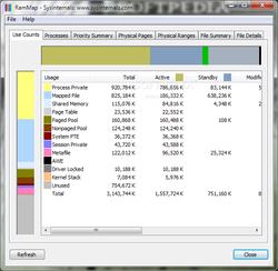 Microsoft RAMMap screen 1