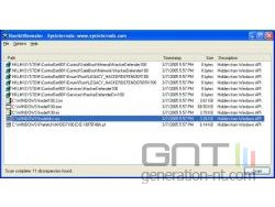 Microsoft rootkit revealer interface small