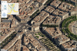 Microsoft Virtual Earth : Bordeaux (vue oblique)