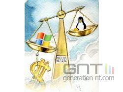 Microsoft vs linux small