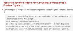 migration freebox Crystal prix