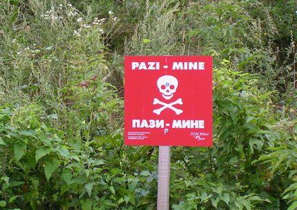 Mines Bosnie.