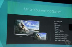mirroring vidéo chromecast