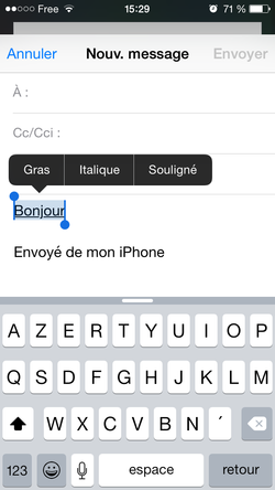 Mise en forme email iPhone iPad (6)