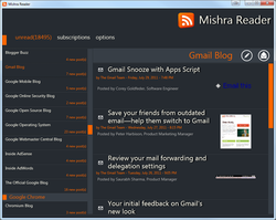 Mishra Reader screen1